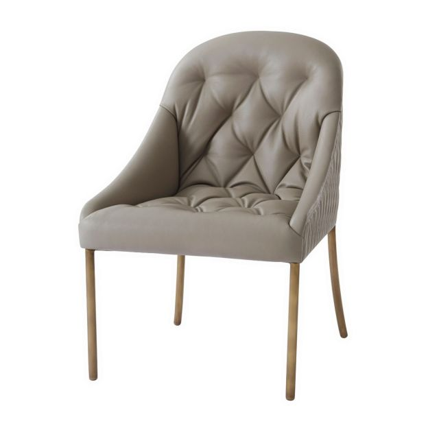 Theodore Alexander Iconic Dining Chair in Leather