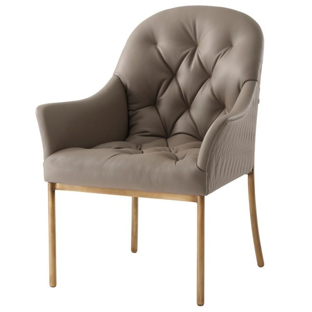 Theodore Alexander Iconic Dining Armchair in Leather