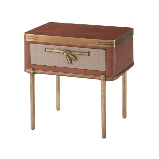 Theodore Alexander Iconic Bedside Table in Sycamore
