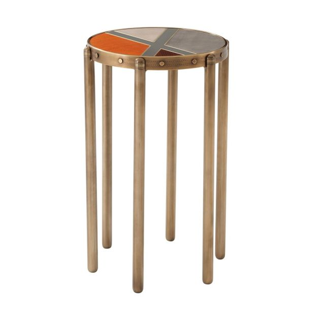 Theodore Alexander Iconic Accent Table in Ash Sycamore