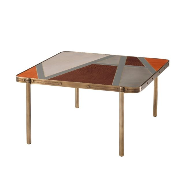 Theodore Alexander Iconic Square Coffee Table in Sycamore