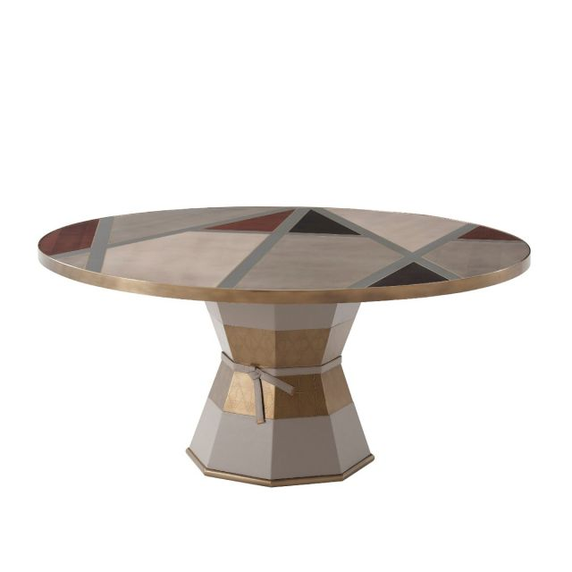 Theodore Alexander Iconic Round Dining Table in Ash