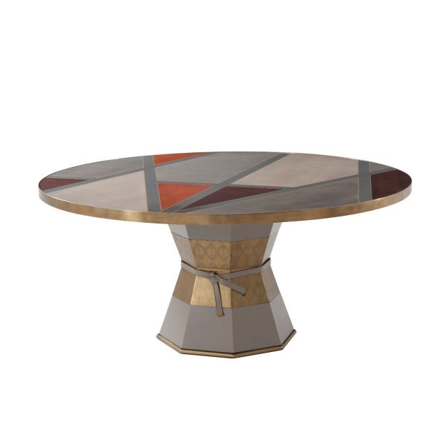 Theodore Alexander Iconic Round Dining Table in Sycamore