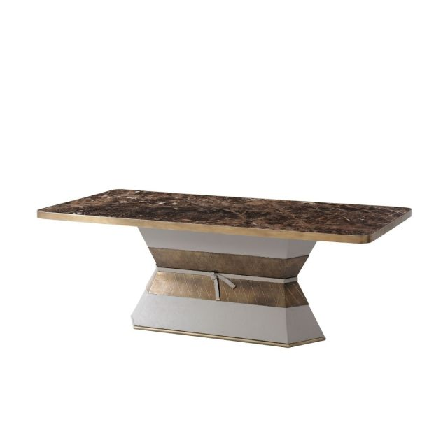 Theodore Alexander Iconic Rectangular Dining Table in Marble