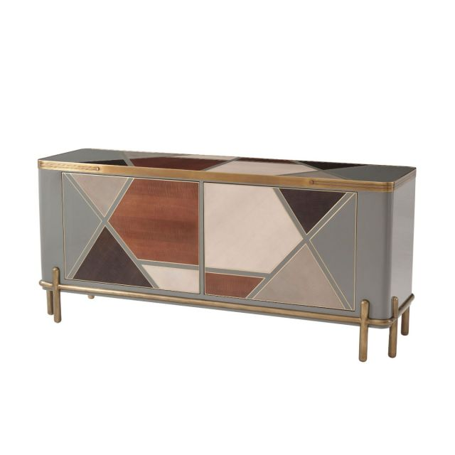 Theodore Alexander Iconic Sideboard Cabinet in Sycamore