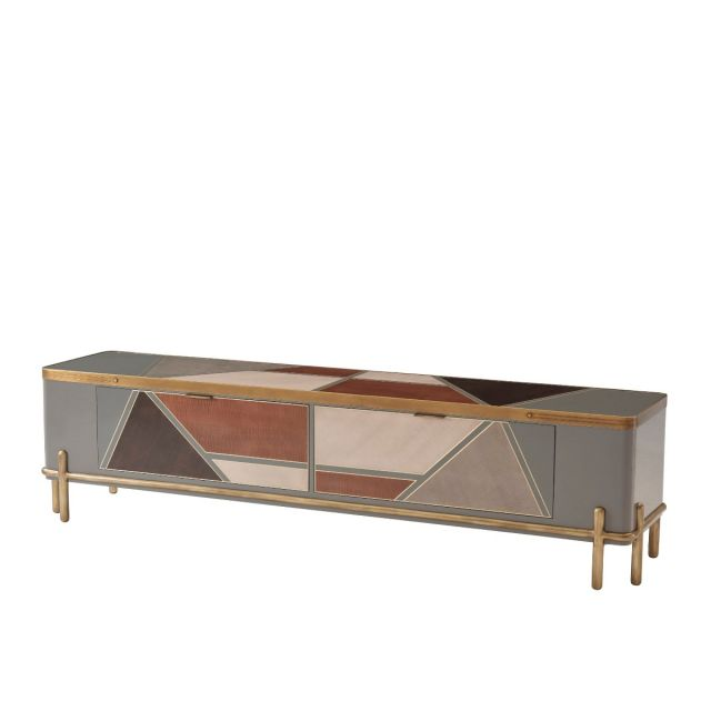 Theodore Alexander Iconic Long TV Cabinet in Sycamore