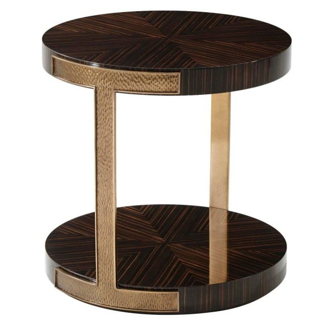 Theodore Alexander Round Side Table Tau