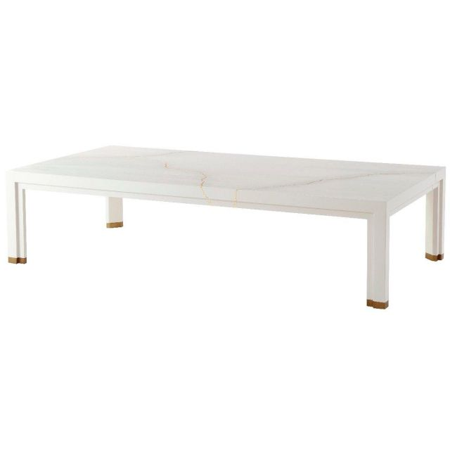Theodore Alexander Marloe Coffee Table in White