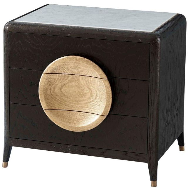 Theodore Alexander Collins Bedside Chest with Marble Top