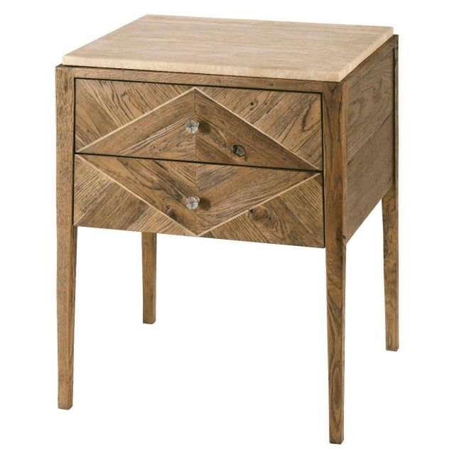 Theodore Alexander Bedside Table Hawkesford in Echo Oak