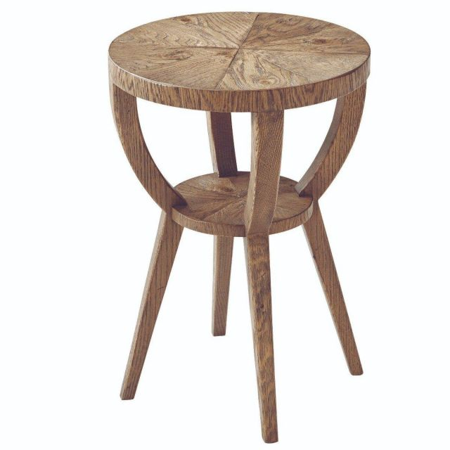 Theodore Alexander Round Accent Table Southfield in Echo Oak