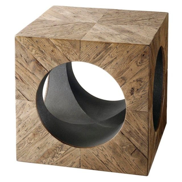 Theodore Alexander Square Side Table Timberley in Echo Oak