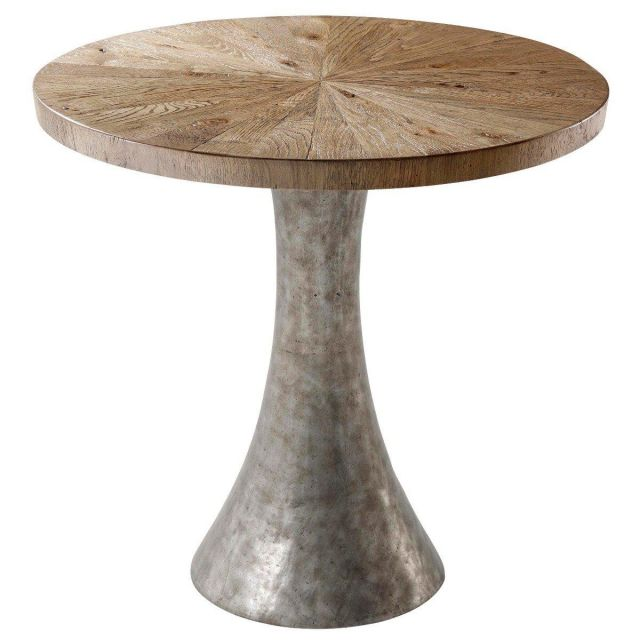 Theodore Alexander Round Side Table Arden in Echo Oak