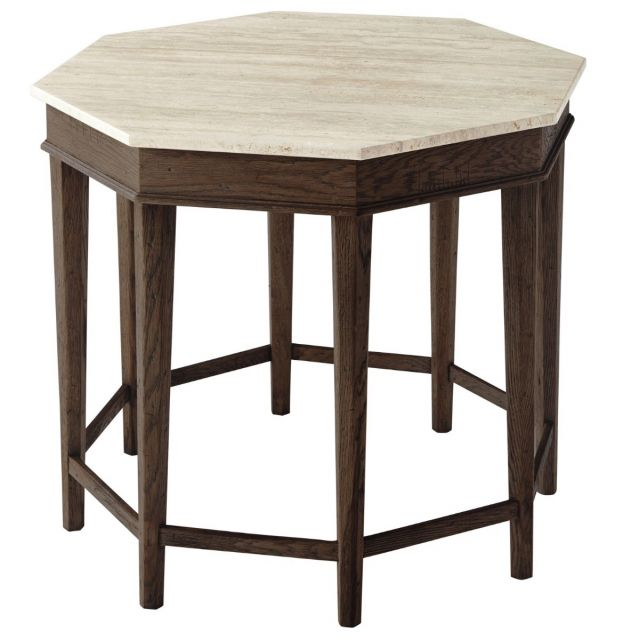 Theodore Alexander Side Table Cooper in Dark Echo Oak