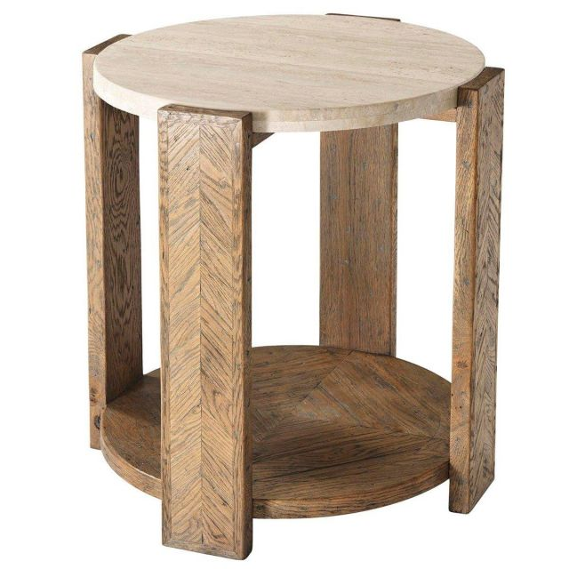 Theodore Alexander Side Table Lawson in Echo Oak