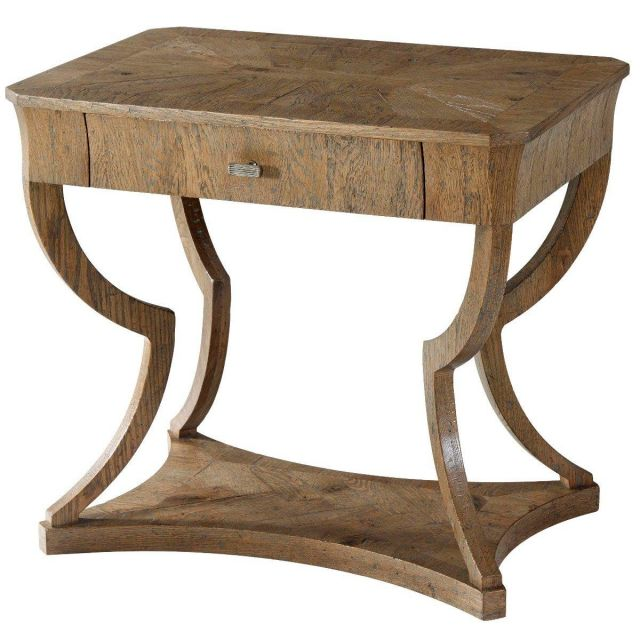 Theodore Alexander Side Table Ennis in Echo Oak