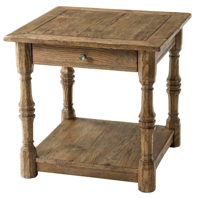 Theodore Alexander Side Table Galloway in Echo Oak