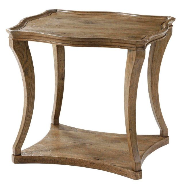 Theodore Alexander Serpentine Side Table Ennis in Echo Oak