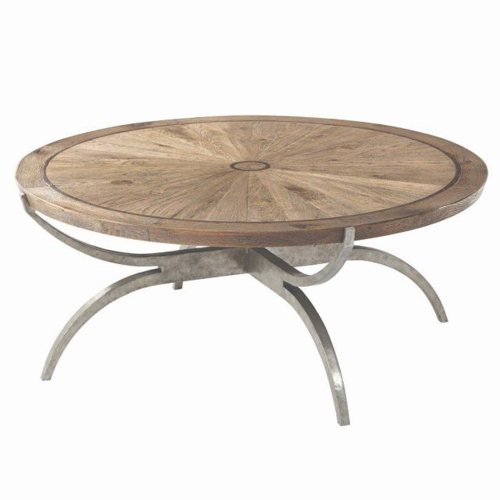 Theodore Alexander Round Coffee Table Weston in Echo Oak