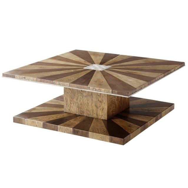 Theodore Alexander Square Coffee Table Arden in Echo Oak