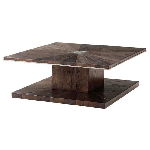 Theodore Alexander Square Coffee Table Arden in Dark Echo Oak