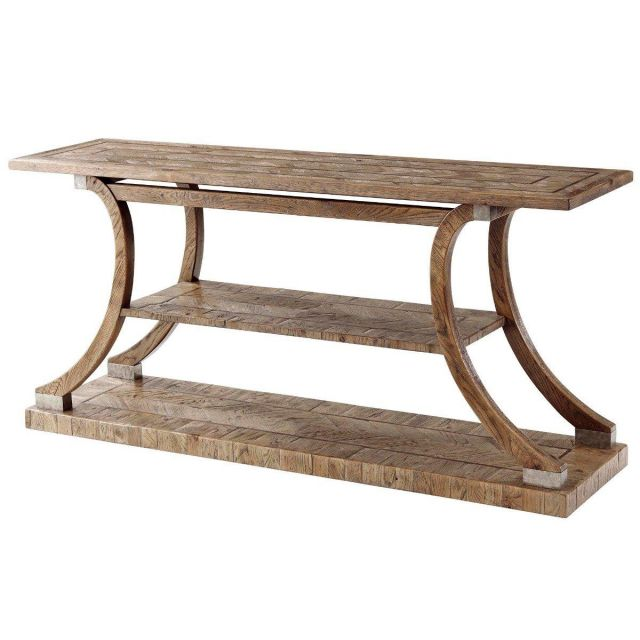 Theodore Alexander Arched Console Table Arden in Echo Oak