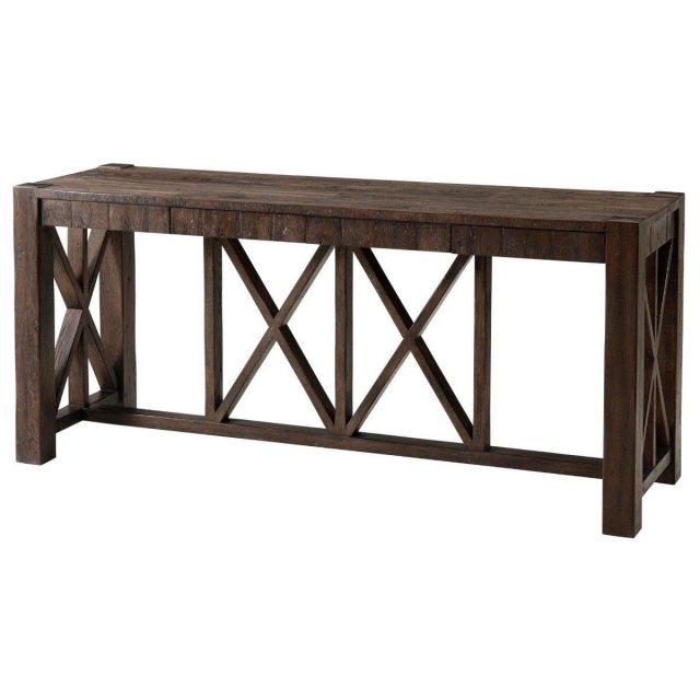 Theodore Alexander Console Table Orlando in Dark Echo Oak