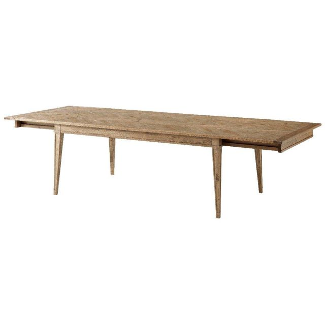 Theodore Alexander Extendable Dining Table Callan in Echo Oak