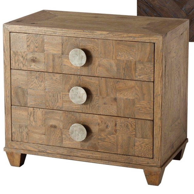 Theodore Alexander Bedside Table Rex in Dark Echo Oak