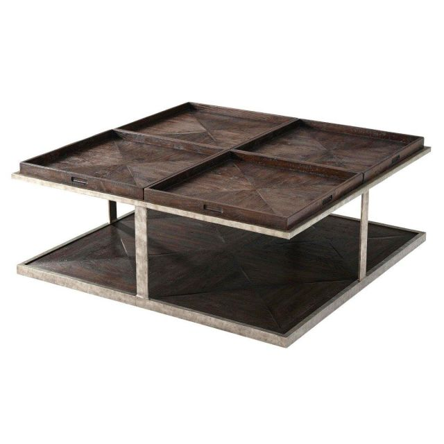 Theodore Alexander Coffee Table Quattor - Dark Echo Oak