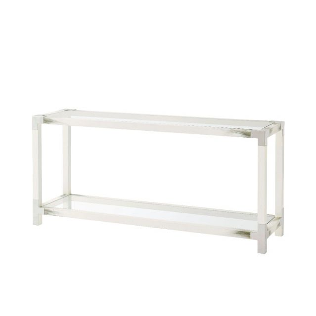 Theodore Alexander Cutting Edge Console Table in White