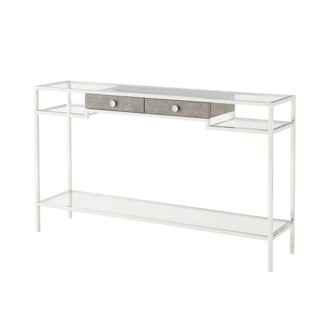 Theodore Alexander Console Table Tintagel - Grey Blue Eggshell