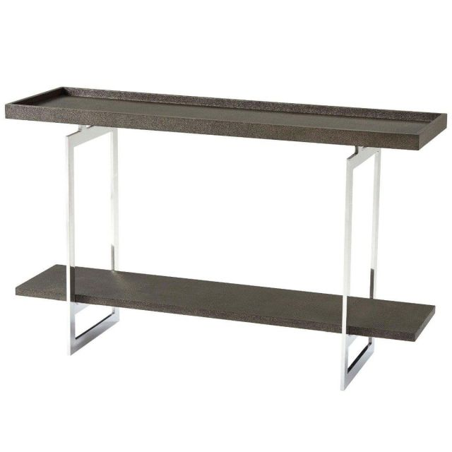 Theodore Alexander Console Table Walker - Nickel Finish