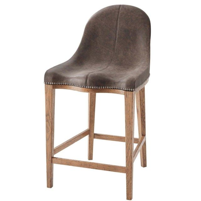 Theodore Alexander Counter Chair Guthrie in Leather