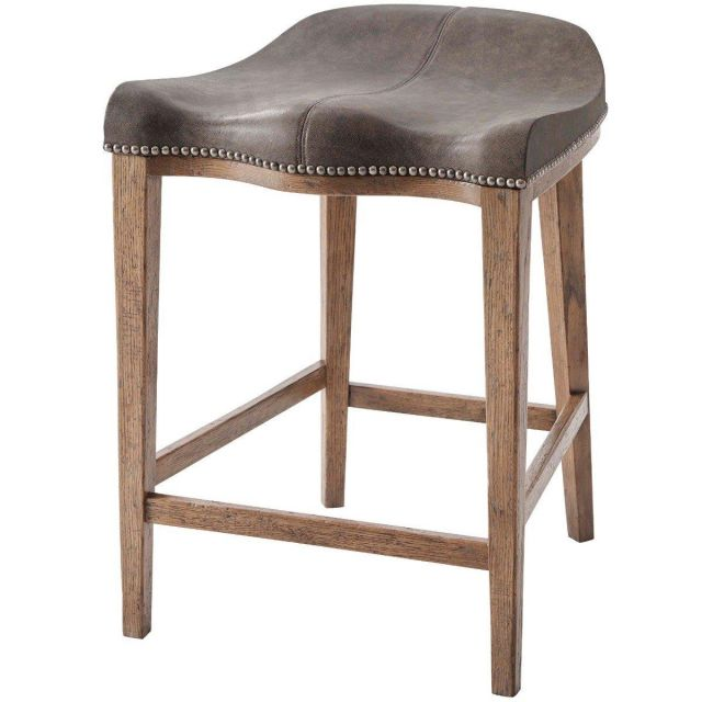 Theodore Alexander Counter Stool Gilford in Leather