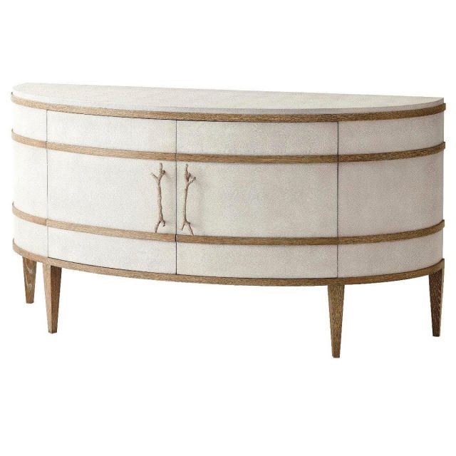 Theodore Alexander Curved Cabinet Brandon in Champagne
