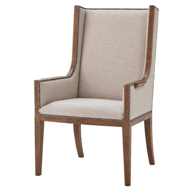 Theodore Alexander Aston Dining Armchair in Matrix Marble