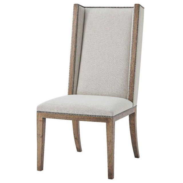Theodore Alexander Aston Dining Chair in Matrix Marble