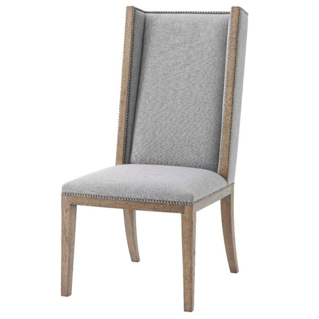 Theodore Alexander Aston Dining Chair in Matrix Pewter