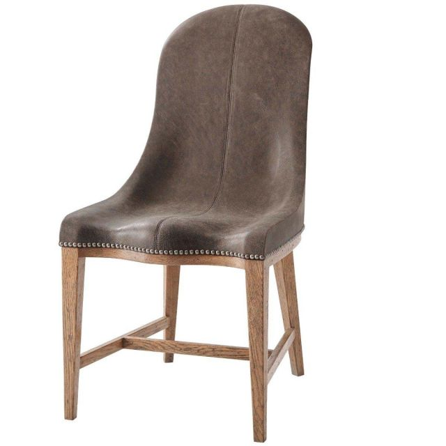 Theodore Alexander Dining Chair Guthrie in Aero Leather