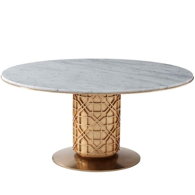 Theodore Alexander Dining Table Colter -  Marble