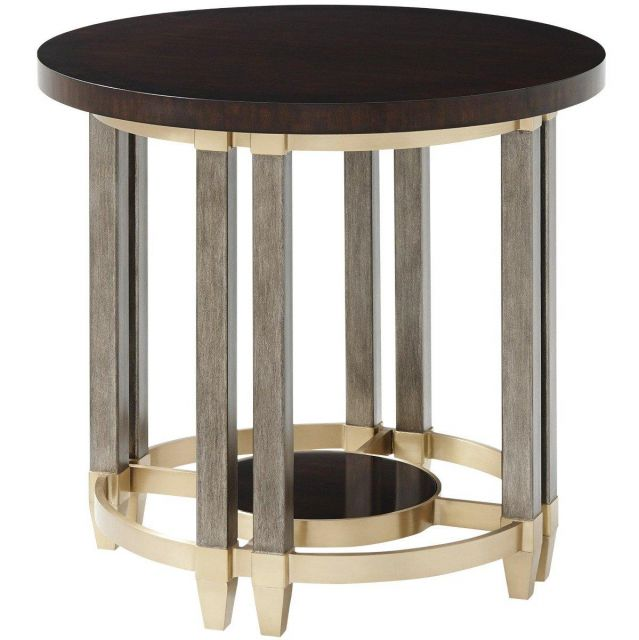 Theodore Alexander Side Table Palais - Mahogany Veneer