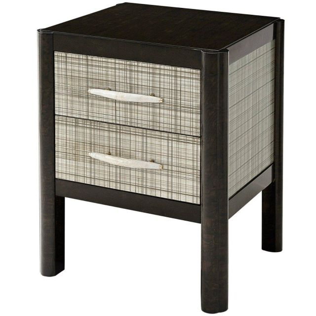 Theodore Alexander Bedside Table D'Argent