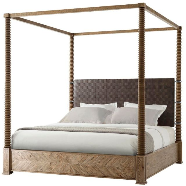 Theodore Alexander King Bed Weston in Echo Oak Finish