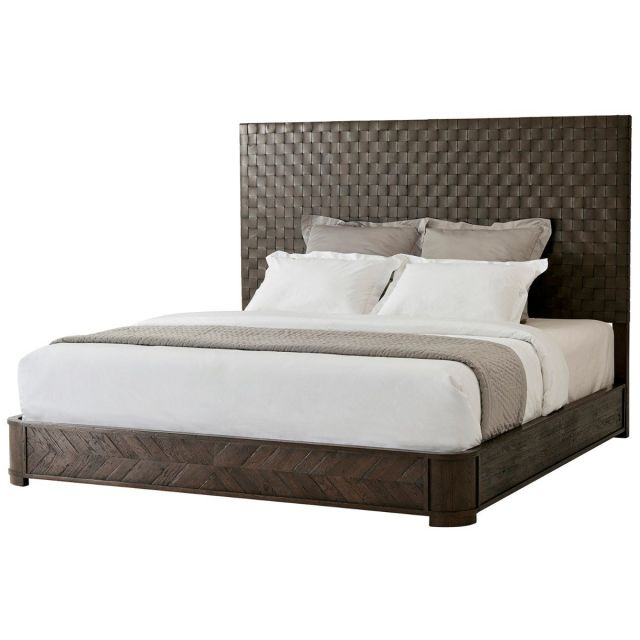 Theodore Alexander King Size Bed Seb in Dark Echo Oak