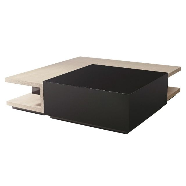 Theodore Alexander Square Coffee Table Manchester in Oak & Cava Lacquer