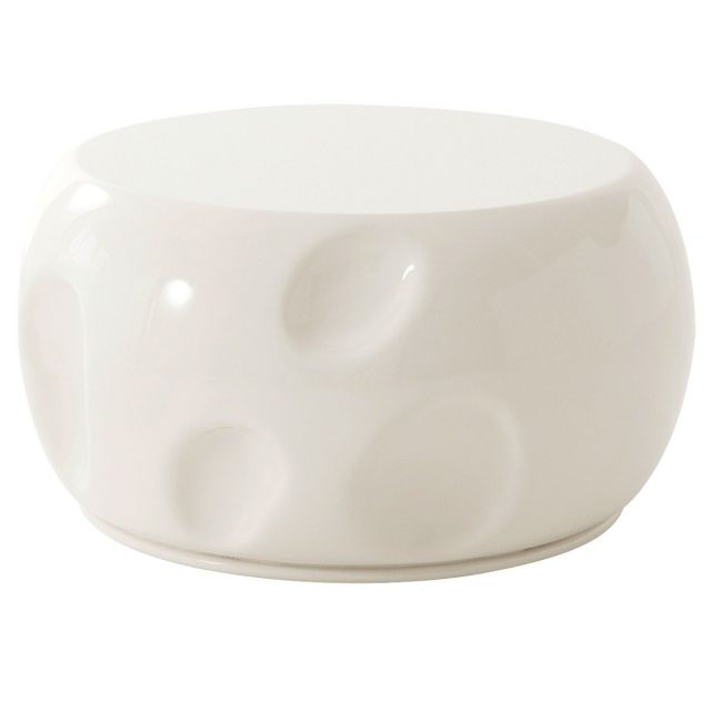 Theodore Alexander Round Coffee Table Dimple in Pear