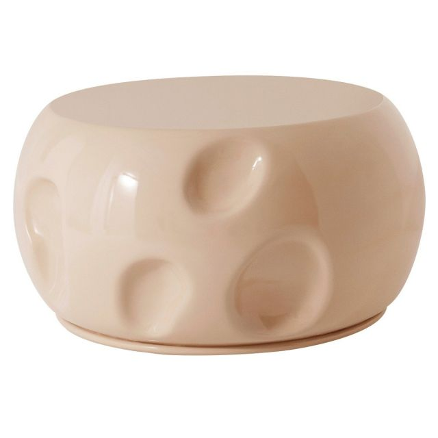 Theodore Alexander Round Coffee Table Dimple in Petal