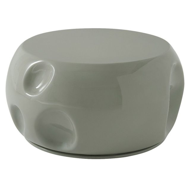 Theodore Alexander Round Coffee Table Dimple in Aqua
