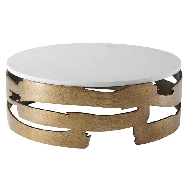 Theodore Alexander Round Coffee Table Washi
